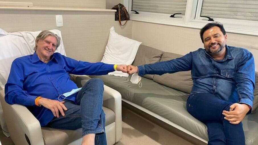 Geraldo Luís vai visitar Sérgio Reis no hospital