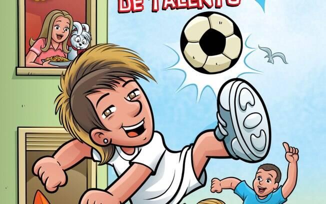Capa da edição 1 do gibi de Neymar
