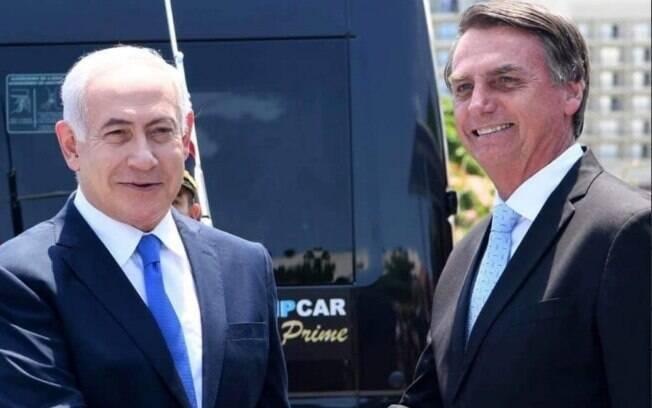 Bolsonaro posta foto com Benjamin Netanyahu e fala de acordo com Israel para envio de tropas a Brumadinho