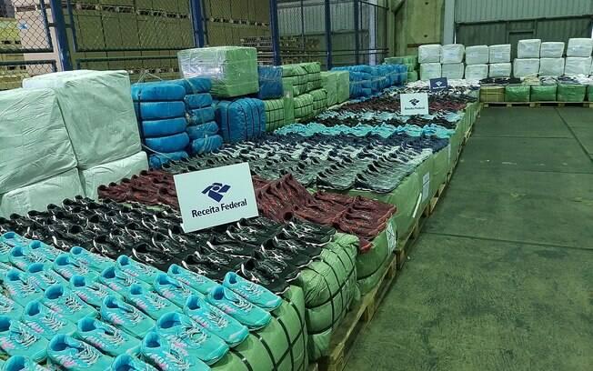 Somente no primeiro semestre de 2020, já foram apreendidas 782 toneladas de mercadorias irregulares
