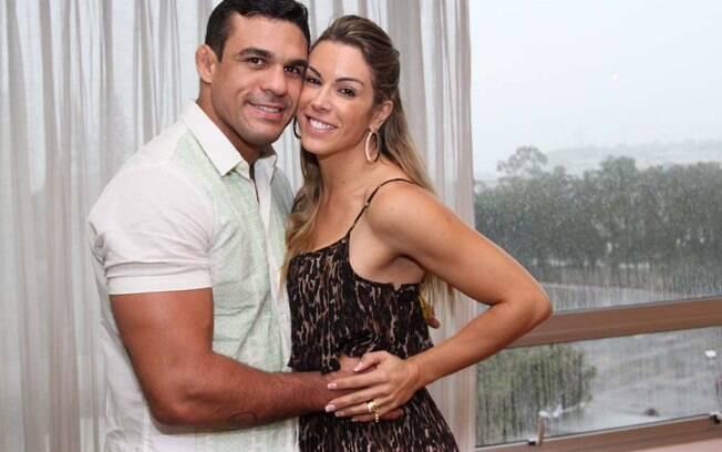 Vitor Belfort e Joana Prado