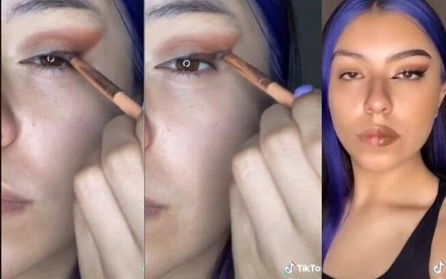 Usuária do TikTok ensina como fazer o Foxy Eyes perfeito
