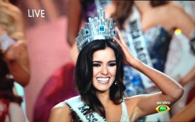 Colombiana Paulina Vega é eleita Miss Universo. Foto: Reprodução