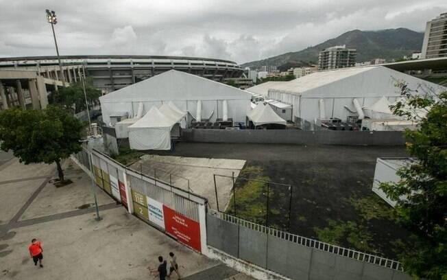 Hospital de Campanha do Maracanã está aberto, mas sem nenhum paciente