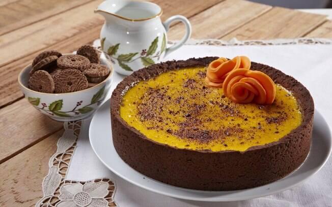 Outra opção da marca é a torta cremosa de abóbora, que promete tornar o Dia das Bruxas ainda mais saboroso