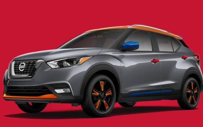 Exemplo de configuração para o Nissan Kicks norte-americano, além de diversas outras possibilidades