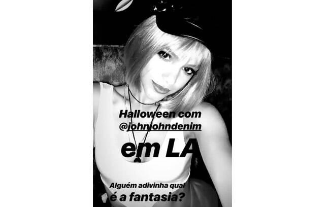 Halloween de Bruna Marquezine foi em festa de Los Angeles e atriz compartilhou fantasia na web