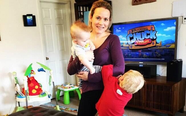 Celeste Eriach é mãe de dois meninos e tem um blog sobre maternidade, mas foi o relato do Facebook que viralizou