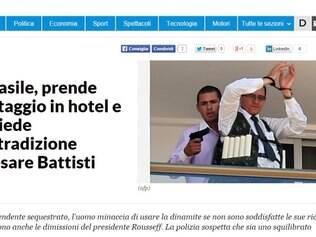 O italiano La Repubblica destacou o pedido de extradição de Battisti