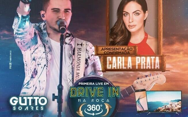 Carla Prata apresenta live do cantor  Gutto Soares