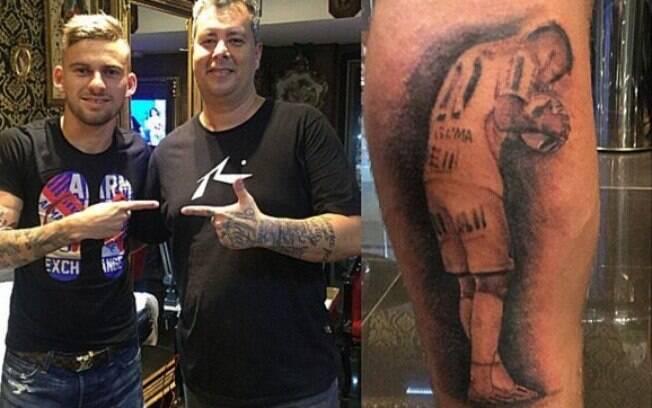 Lucas Lima também se tem tatuado