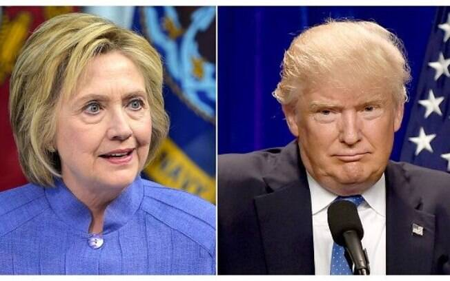 Hillary Clinton e Donald Trump disputaram pela presidência dos EUA nas últimas eleições; Mike Pence é o vice do magnata