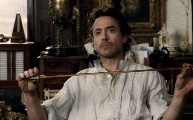 Downey Jr. em 'Sherlock Holmes' (2009). Foto: Divulgação