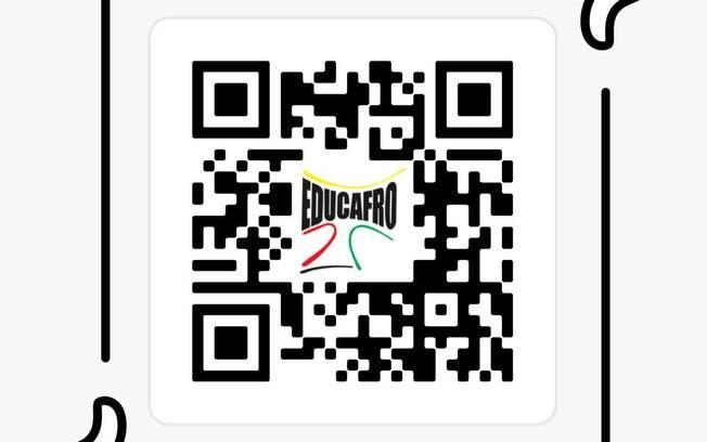 QR code para inscrição no curso de liderança da Educafro