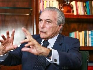 Vice-presidente da República, Michel Temer (PMDB) diz que ajuste fiscal visa a uma economia saudável