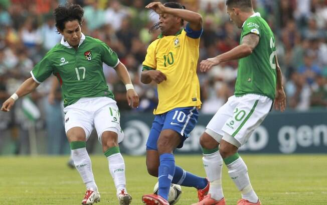 Ronaldinho fez sua segunda partida com a  seleção desde o retorno de Felipão
