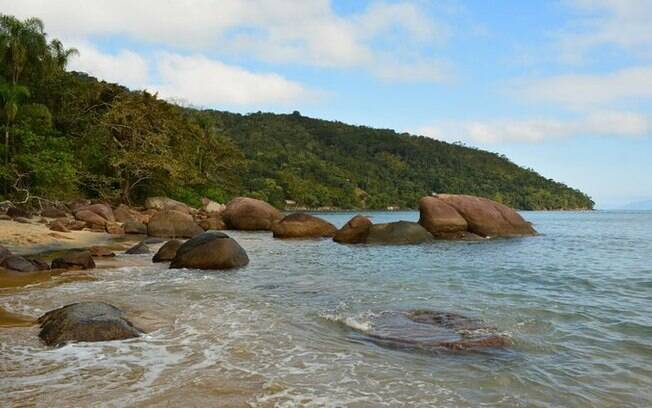 Rochas na Praia Preta
