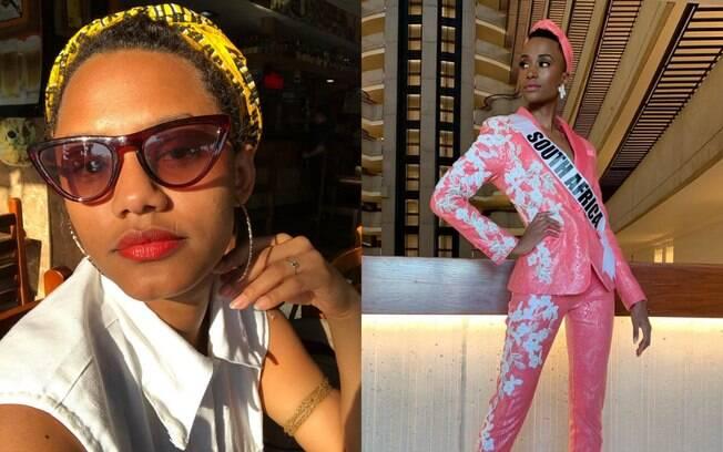 Jéssica Ellen e a Miss Universo Zozibini Tunzi