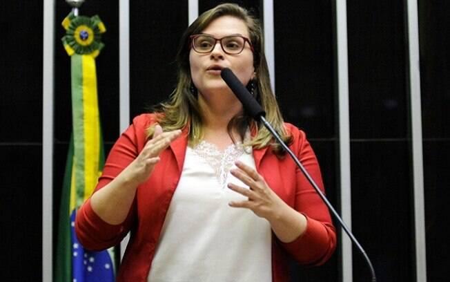Deputada Marília Arraes (PT-PE) no plenário da Câmara
