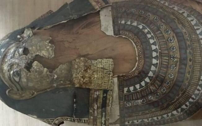 curadores do museu de Hyderabad descobriram que a múmia começou a se desestabilizar