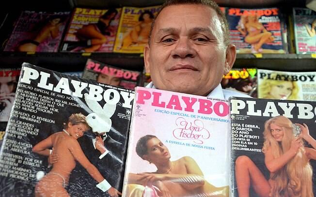 Guerrinha e algumas das edições que considera raras. Revista com Xuxa pode custar até R$ 12 mil