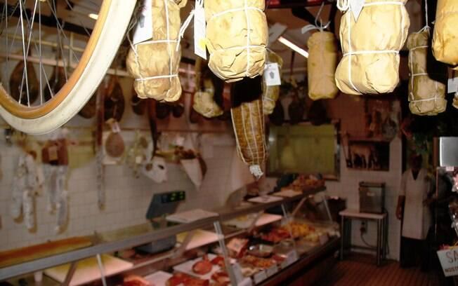 Um dos 'negozi' (lojas) da Toscana