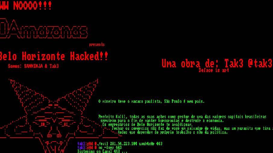 O hacker afirma não ter ligação com nenhum grupo ou partido político
