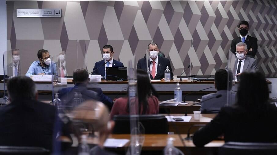 Sessão da CPI da Covid no Senado Federal