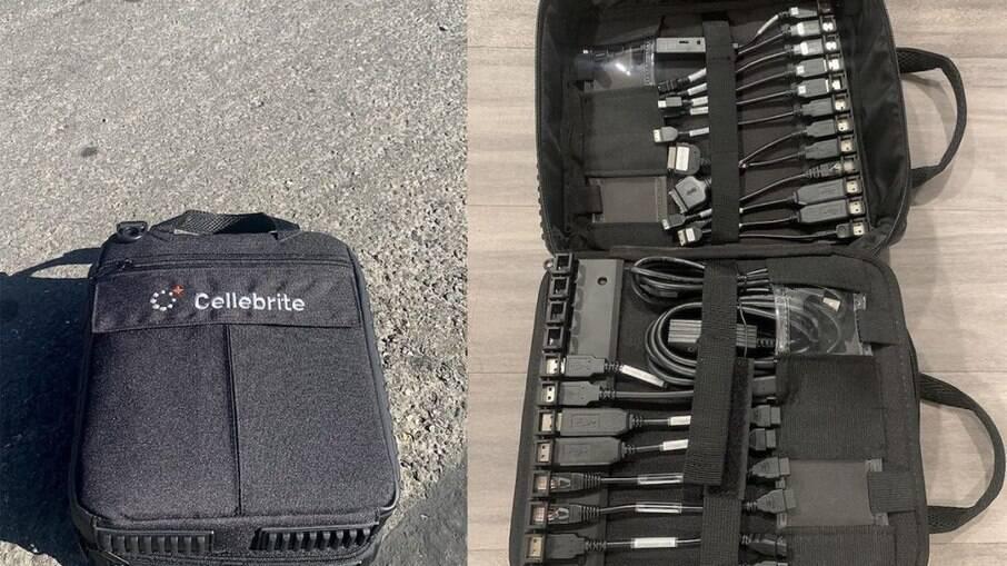 Kit que permite o uso do software Cellebrite