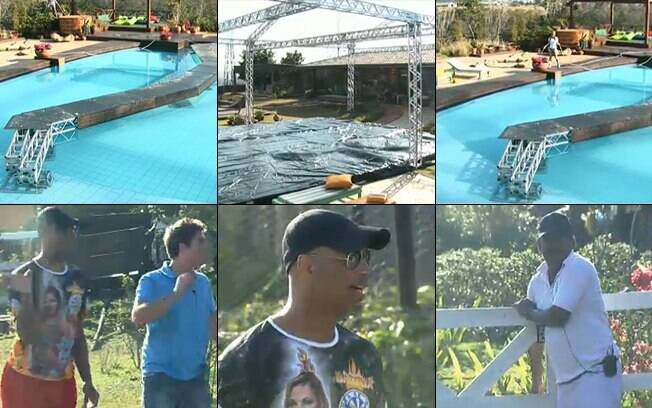 Estrutura na piscina deixou os peões ansiosos