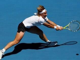 Svetlana Kuznetsova conquistou nova vitória nesta segunda e garantiu vaga nas quartas de final do Grand Slam francês