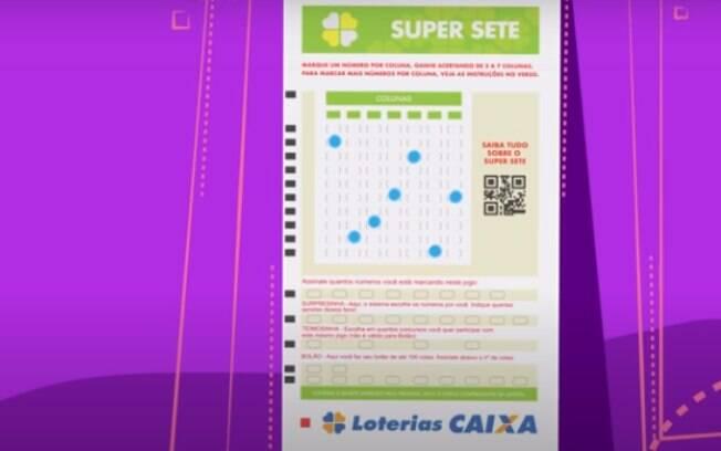 Caixa lançou o Super Sete, sua nova loteria, que estreia nesta sexta-feira (2)