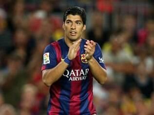 Suárez fez a sua estreia com a camisa do Barcelona nessa segunda-feira