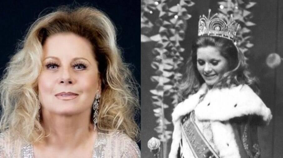 Da esquerda para direita: Vera Fischer aos 70 anos e Vera Fischer com 17 anos