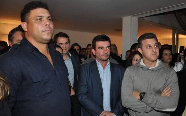 Ronaldo, Andrés Sanchez e Luciano Huck