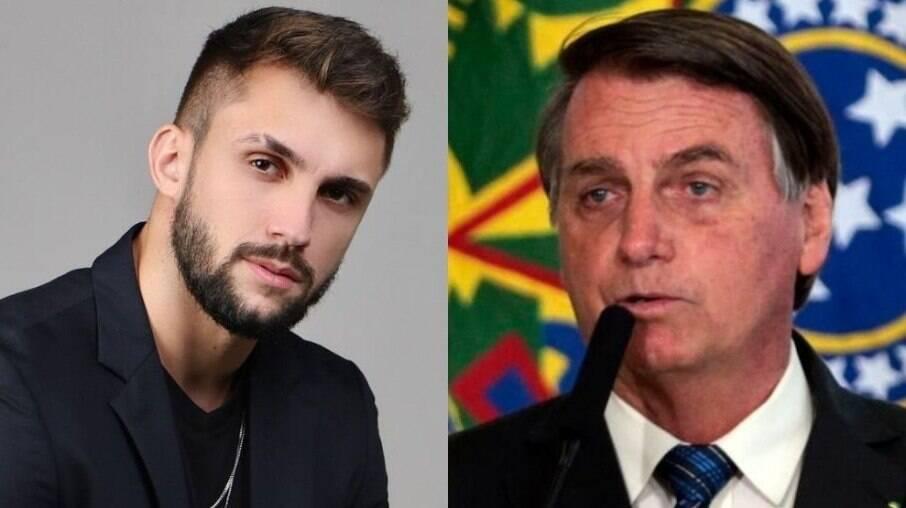 Arthur Picoli e Jair Bolsonaro