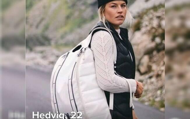 Hedvig Wessel, atleta da Noruega, de esqui estilo livre