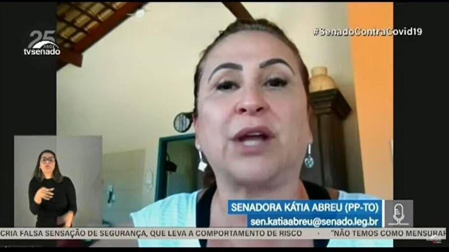 Senadora Kátia Abreu na CPI da Covid-19