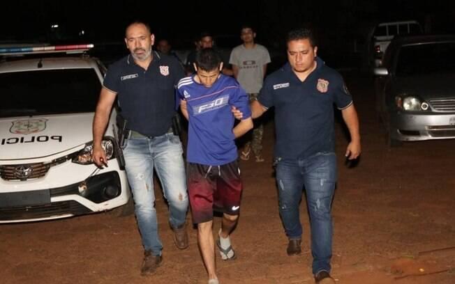 Um dos presos recapturados na noite desta segunda-feira pela polícia do Paraguai
