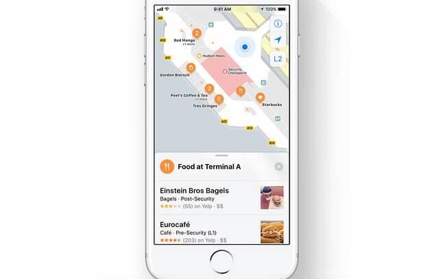O novo iOS 11 dá uma atenção a mais para os mapas interiores de estabelecimentos