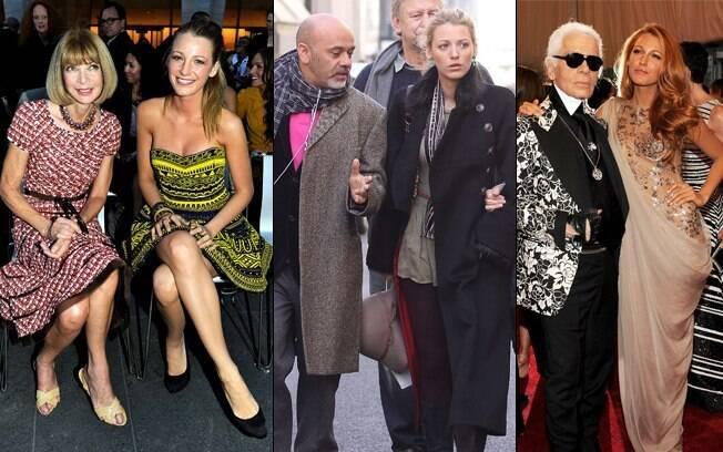 Queridinha no mundo fashion: Blake com Anna Wintour, Christian Louboutin e com Karl Lagerfeld