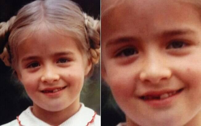 Angélica postou foto banguelinha, aos 7 anos
