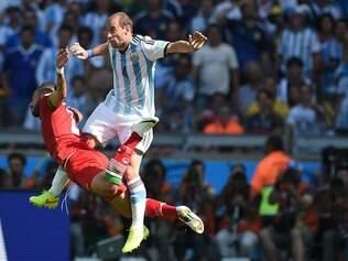 MG - COPA DO MUNDO/ ARGENTINA X IRA  - ESPORTES : BELO HORIZONTE - MINEIRAO - MG - COPA DO MUNDO / ARGENTINA X IRA -  Partda valida pela 2 rodada da Copa do Mundo 2014 ,  entre as equipes da Argentina e Ira , no Mneirao MG . ARAGENTINA X IRA.  FOTOS: JOAO GODINHO / O TEMPO / 21.06.2014
