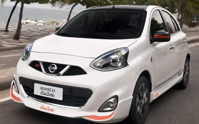Nissan March Rio 2016 teve mil unidades com detalhes pintados de laranja