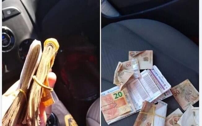 Motoboy que fazia pagamentos para dona de mercantil deixou quantia cair do bolso sem perceber