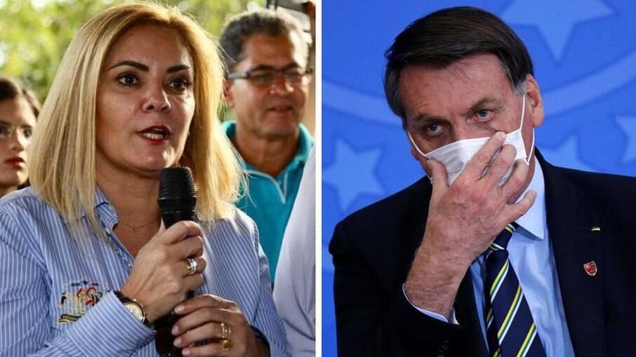 Ana Cristina Valle e Jair Bolsonaro