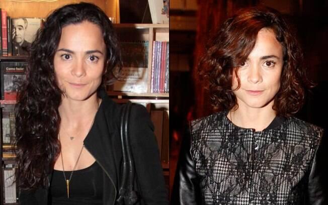 Alice Braga, antes e depois. Atriz corta o cabelo para interpretar editora de moda em filme