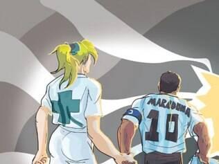 Foto de Maradona com uma enfermeira do controle de doping de 94 foi a última do