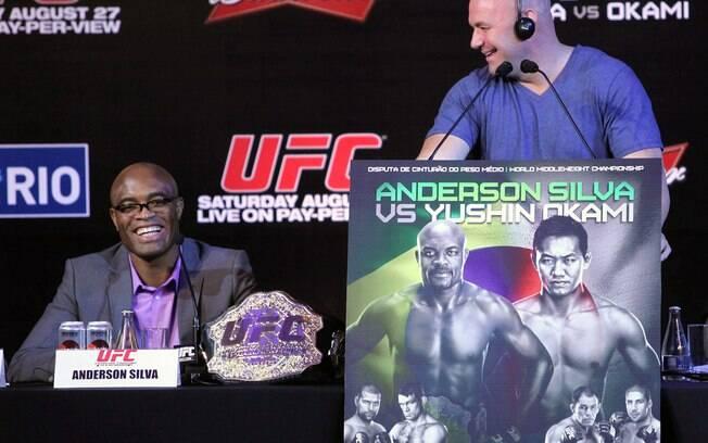 Anderson Silva e Dana White já protagonizaram  uma série de discórdias no UFC