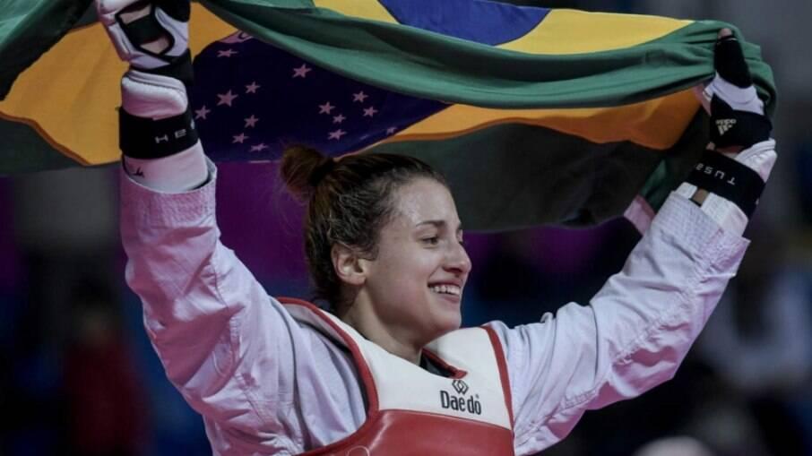 Milena Titoneli em ação nos Jogos de Tóquio 2020